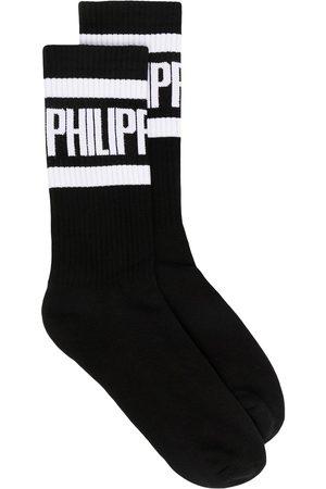 Philipp Plein Hombre Calcetines - Calcetines con logo estampado