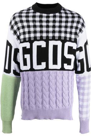GCDS Suéter con diseño colour block
