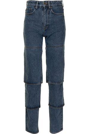 Y / PROJECT Jeans rectos con tiro alto