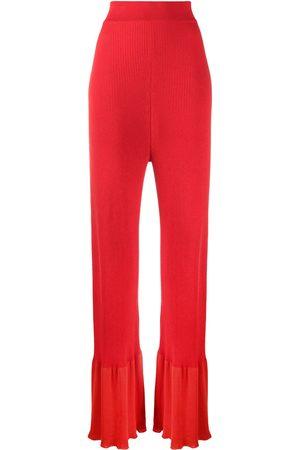 Stella McCartney Pantalones tejidos de canalé
