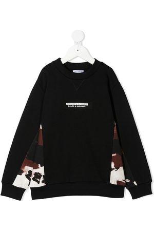 Dolce & Gabbana Niño Con capucha - Sudadera con paneles con motivo militar