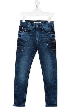 Calvin Klein Niña Jeans - Jeans slim con diseño de cinco bolsillos