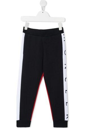Moncler Niño Pantalones - Pants con ribete del logo