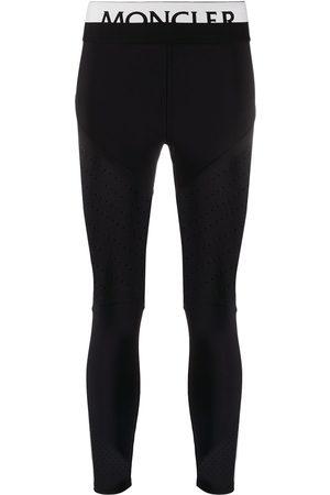 Moncler Mujer Leggings y treggings - Leggins con logo en la pretina