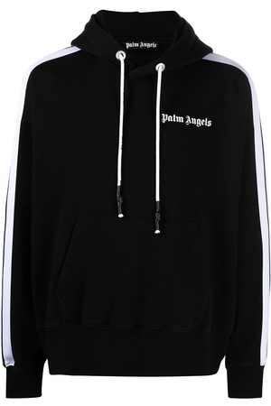 Palm Angels Hombre Con capucha - Hoodie con rayas laterales