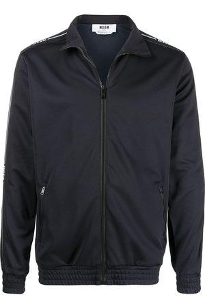 Msgm Hombre Con capucha - Sudadera con cierre y ribete del logo