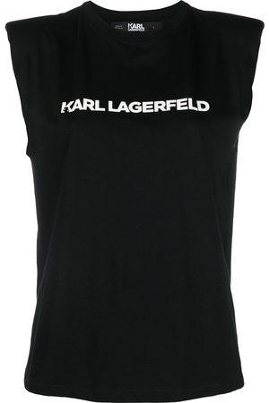 Karl Lagerfeld Mujer Playeras - Camiseta con logo estampado