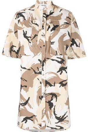 Kenzo Vestido camisero con estampado abstracto