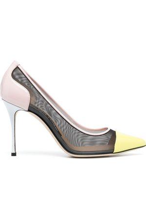 Sergio Rossi Zapatillas de malla con tacón stiletto
