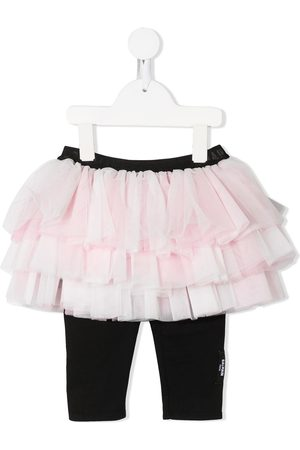 Balmain Falda de tul a capa con leggins
