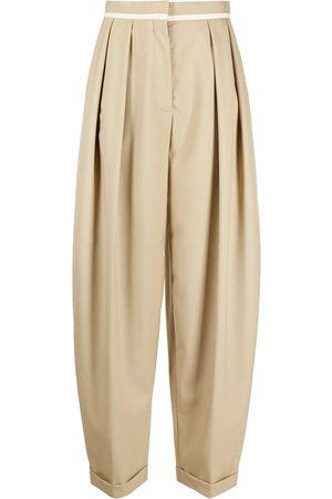 Stella McCartney Pantalones holgados con tiro alto
