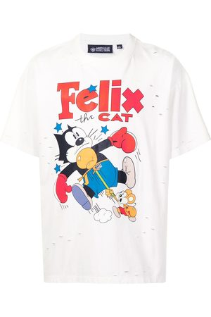 MOSTLY HEARD RARELY SEEN Playera Vintage Knockout Cat Felix