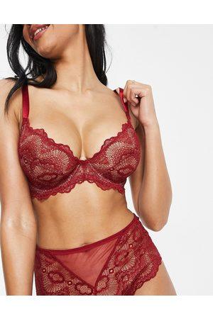 ASOS Fuller Bust Rosie lace underwire bra in red