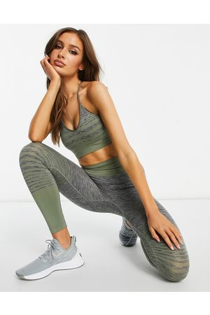 HIIT Melissa seamless ombre bralet in grey and green