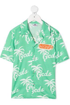 GCDS Logo-print short-sleeved shirt