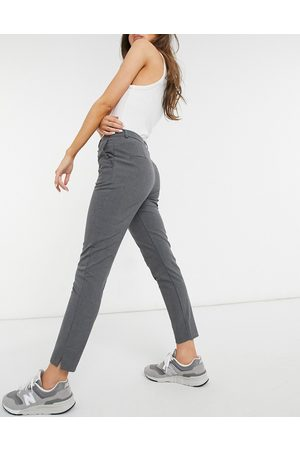 SELECTED Seleceted Muse slim leg tailored trouser in grey