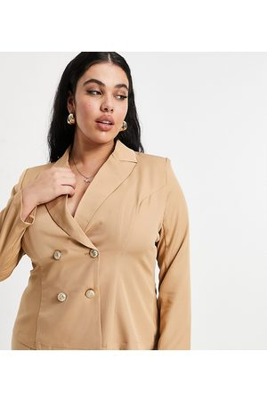 Outrageous Fortune Tailored blazer co ord in camel