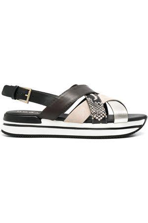 Hogan Crossed strappy sandals