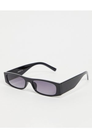 My Accessories London rectangle sunglasses in black with plastic frame