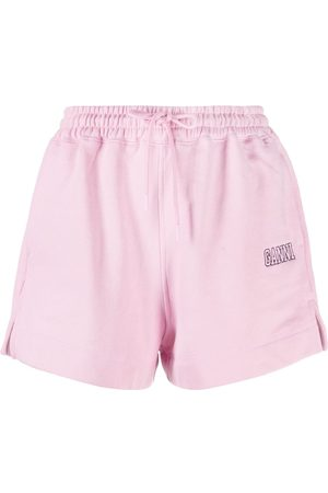 Ganni Shorts deportivos con logo estampado