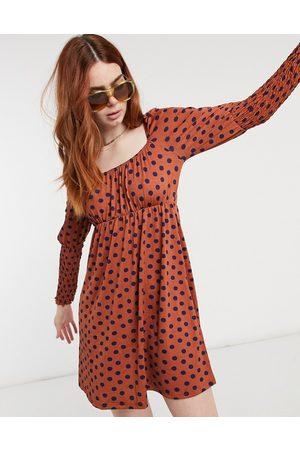 Miss Selfridge Polka dot mini dress in red