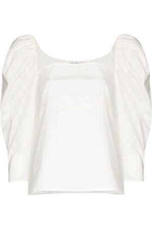 REJINA PYO Anita pouf sleeve cotton blouse