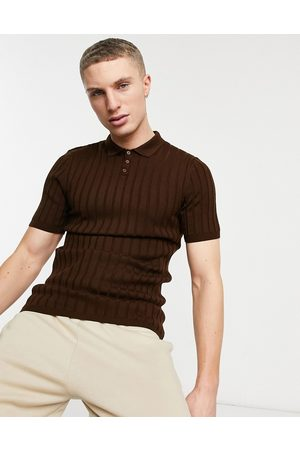 ASOS Knitted ribbed polo neck t