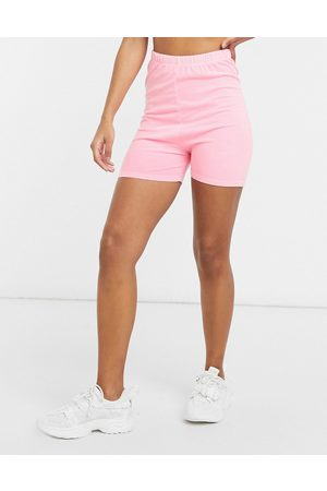 ASOS Shorter length cotton legging short in washed hot pink