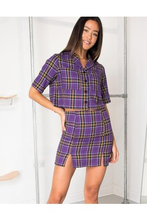 Daisy Street Mini skirt in vintage check co