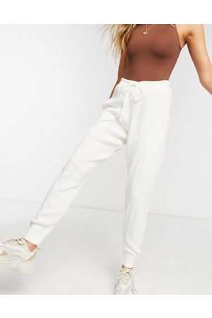 In The Style Knitted joggers in cream