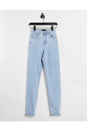 ASOS High rise farleigh 'slim' mom jeans in pretty lightwash