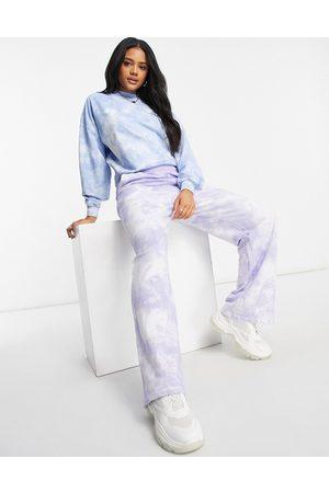 ASOS Straight leg jogger in lilac tie dye