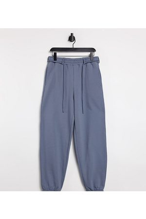 COLLUSION Unisex oversized jogger in charcoal co