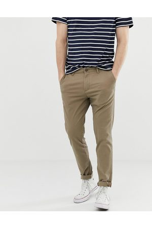 Jack & Jones Intelligence slim fit chinos in sand