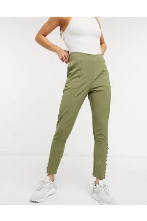 Little Mistress Split front tailored trousers co