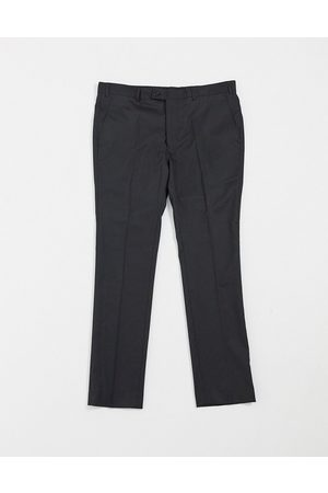 Bolongaro Plain super skinny suit trousers in black