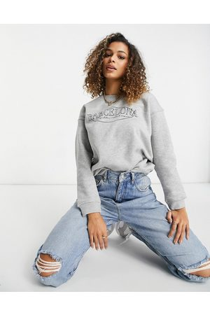 Lasula Sweatshirt with city slogan in grey