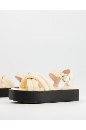 Public Desire Kelsi chunky flatform sandals in vanilla