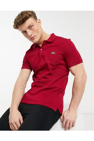 Lacoste Slim fit pique polo in burgundy