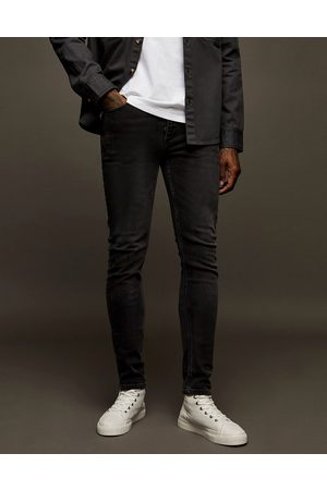 Topman Hombre Skinny - Stretch skinny jeans in washed black