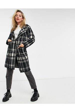 QED London Double breasted coat in check