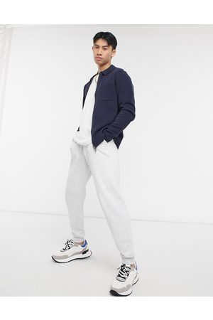 Selected Knitted zip through jacket in navy
