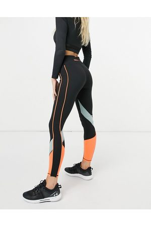 Only Play High waisted leggings with colour block