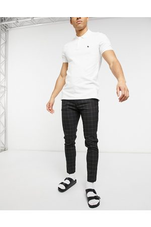 ASOS Smart super skinny trousers in black check