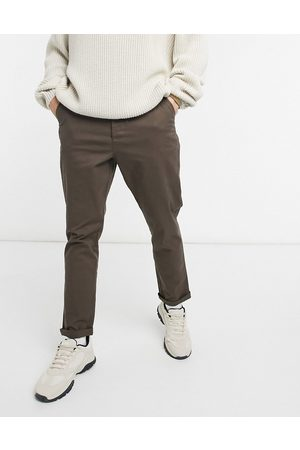 ASOS Tapered chinos in brown