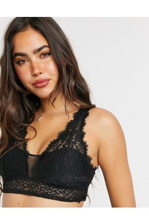 Aerie Romantic plunge bralette with removable padding in black