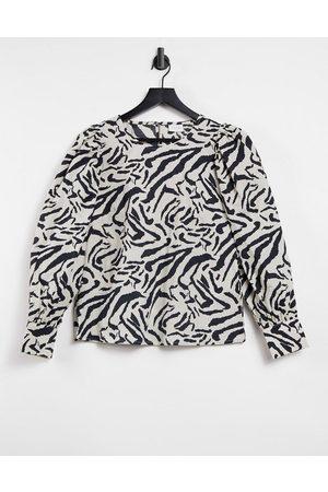VILA Blouse in zebra print
