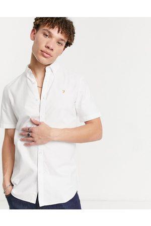Farah Brewer organic short sleeve shirt in white