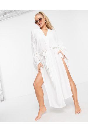 ASOS Mujer Pareos - Beach kimono in white