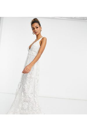 A Star Is Born Exclusive bridal embellished plunge dress in ivory